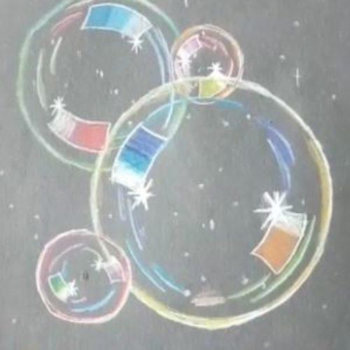 Seifenblasen malen