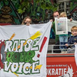 Raise your voice unterwegs