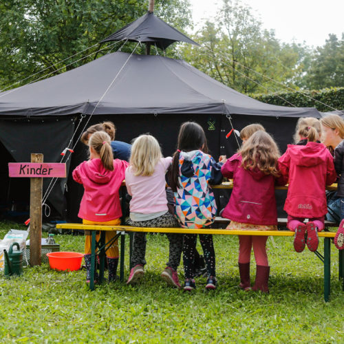 Kinderprogramm beim Klimacamp 2020