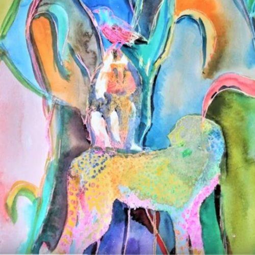 Haus der Kunst :Farben und Motive schichten